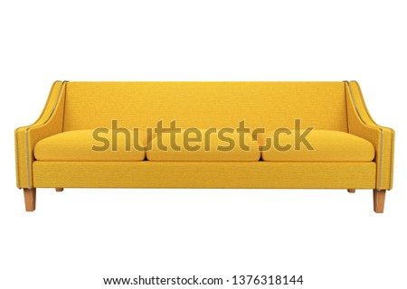 Sofa and Chair fabric leather in white background for use in graphics, photo editing, White background is easy to edit for interior 3D rendering : illustration