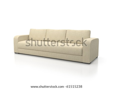 Sofa brown isolated on white #61515238