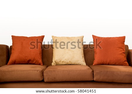 Sofa close up with copy space