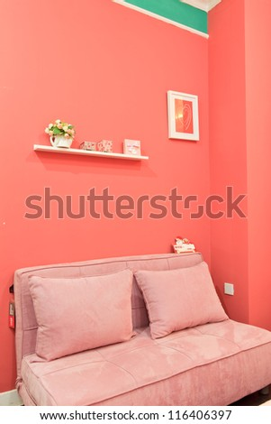 Sofa frame tables and chairs. Interior decoration ...