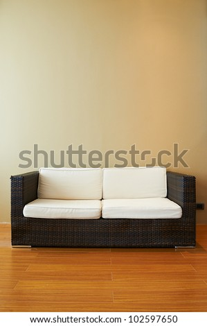 Sofa in empty living room