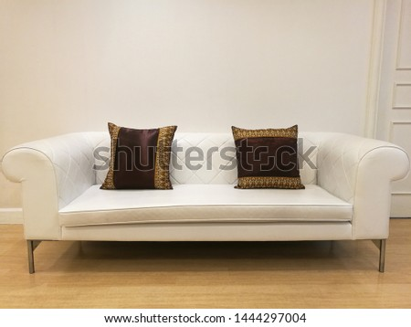 sofa in the room Thai pillow white sofa #1444297004