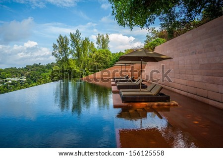 Sofa in the water