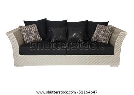 sofa isolated on white background