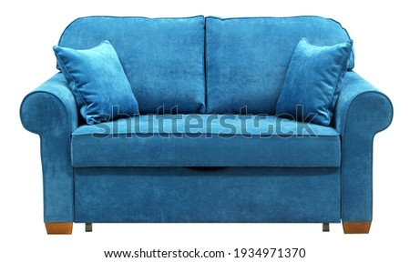 Sofa isolated on white background. Including clipping path Foto stock ©