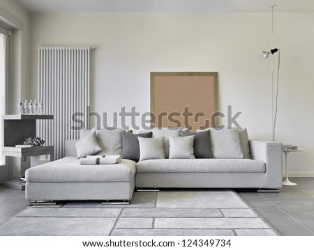 sofa of tissue in a modern living room