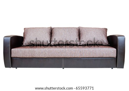 Sofa on white background isolated #65593771