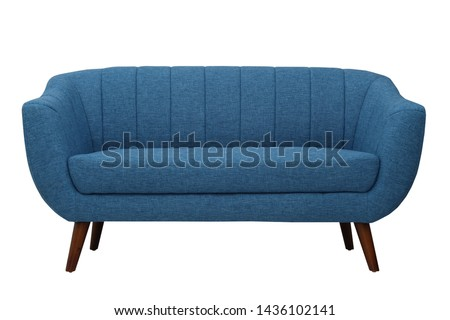 sofa with isolated white background Foto stock ©