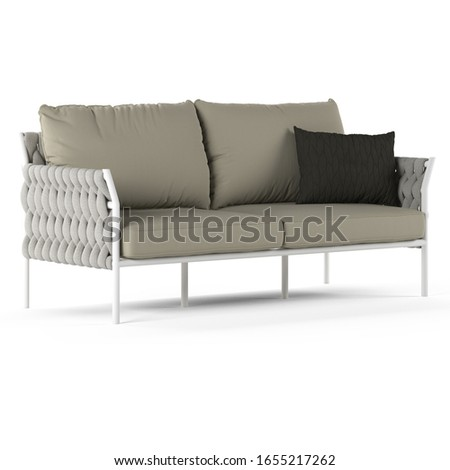 Sofa with pillow for outdoor or living room