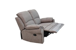 sofabed recliner on white isolated background