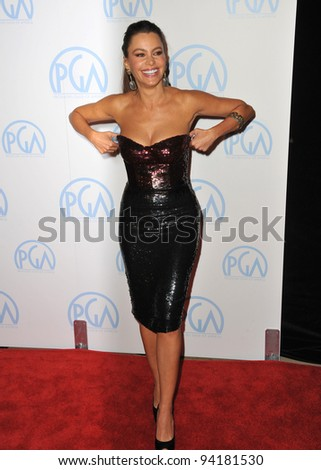 Sofia Vergara at the 23rd Annual Producers Guild Awards at the Beverly Hilton Hotel. January 21, 2012  Los Angeles, CA Picture: Paul Smith / Featureflash