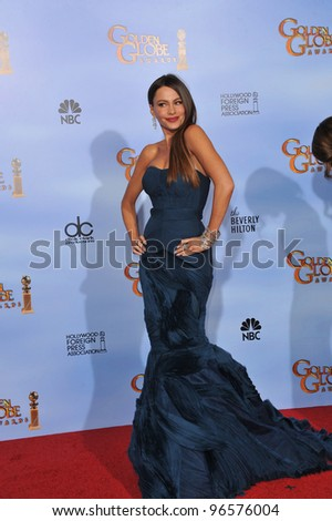 Sofia Vergara at the 69th Golden Globe Awards at the Beverly Hilton Hotel. January 15, 2012  Beverly Hills, CA Picture: Paul Smith / Featureflash