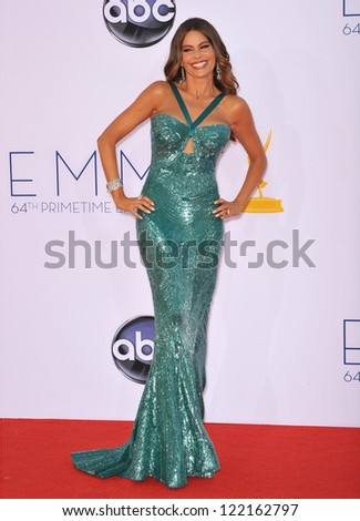Sofia Vergara at the 64th Primetime Emmy Awards at the Nokia Theatre LA Live. September 23, 2012  Los Angeles, CA Picture: Paul Smith - stock photo