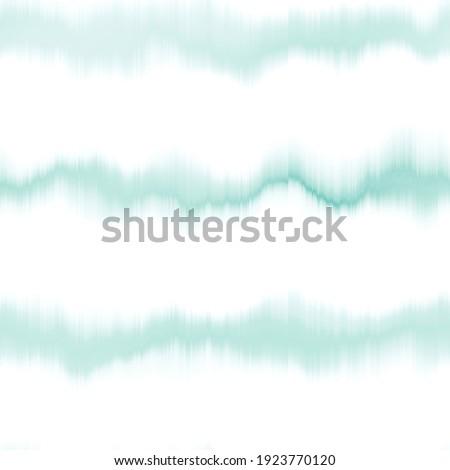 Soft aegean teal blue blur stripe texture background. Seamless liquid flow watercolor stripe effect. Wavy wet wash variegated fluid blend pattern for water turquoise sea, ocean, nautical backdrop.