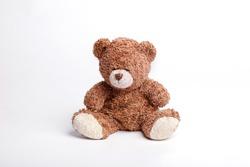 soft bear isolated on white background. toy teddy isolated on white background
