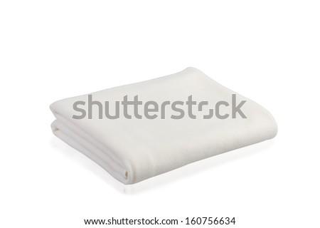 soft blanket isolated on white background