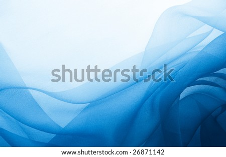 soft blue chiffon with curve and wave