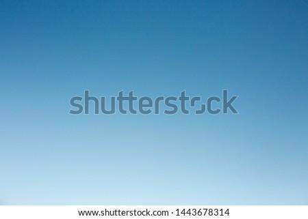 Soft blue sky and atmospheric light  #1443678314