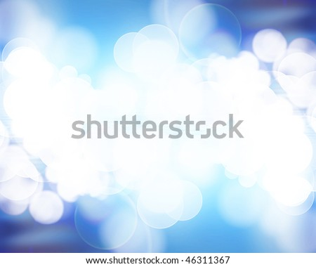 Soft blue waves on a bright background