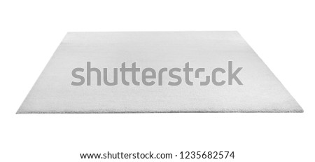Soft carpet on white background. Interior element