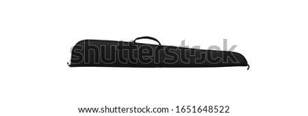 Soft case for guns isolated for white background. Case for transporting and storing weapons.