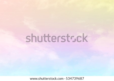 Soft cloudy is gradient pastel,Abstract sky background in sweet color. #534739687