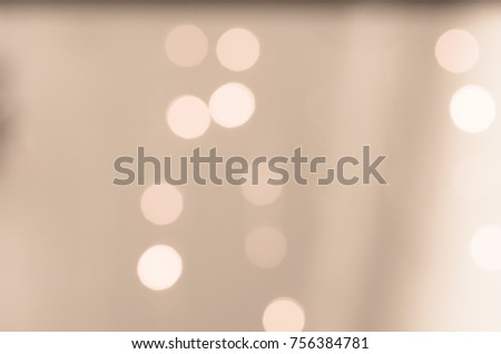 Soft colorful bokeh background. Luminous garlands of electric lights. Copy space to add text. Saturated colors. Blurry abstraction. Gentle tone. Dark night. Festive party in city. Defocus effect. #756384781