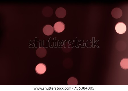Soft colorful bokeh background. Luminous garlands of electric lights. Copy space to add text. Saturated colors. Blurry abstraction. Gentle tone. Dark night. Festive party in city. Defocus effect. #756384805