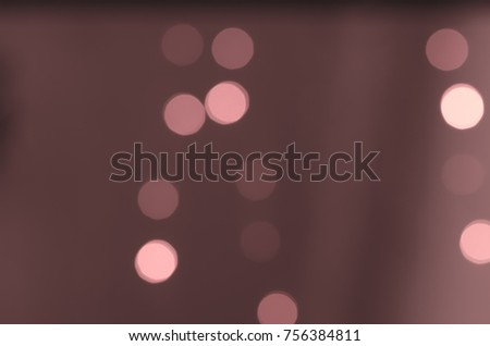 Soft colorful bokeh background. Luminous garlands of electric lights. Copy space to add text. Saturated colors. Blurry abstraction. Gentle tone. Dark night. Festive party in city. Defocus effect. #756384811