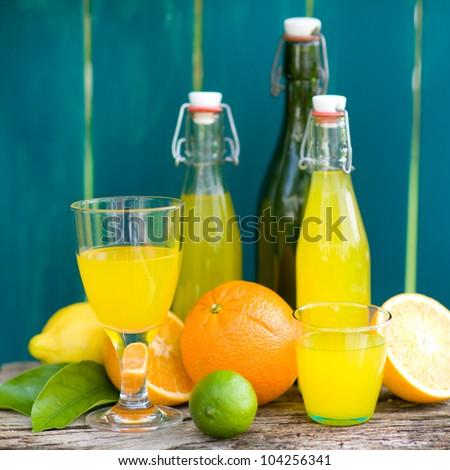 Soft drink, lemon fruits