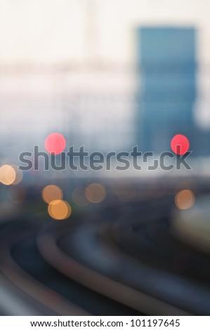 Soft focus view of the railway station in Zurich, Switzerland.