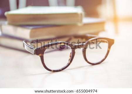 soft focus vintage glasses blur ...