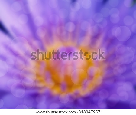 Soft focused image with lotus flower and blur bokeh background, De focused with flower and blur background, Abstract beautiful nature background
