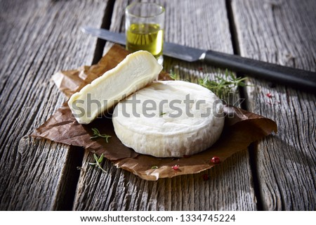 Soft french cheese Saint-Marcellin