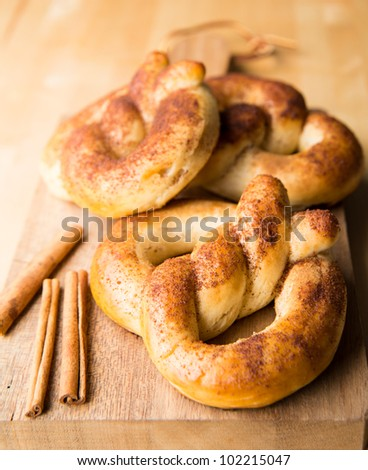 Soft Fresh Pretzels with Brown Sugar and Cinnamon