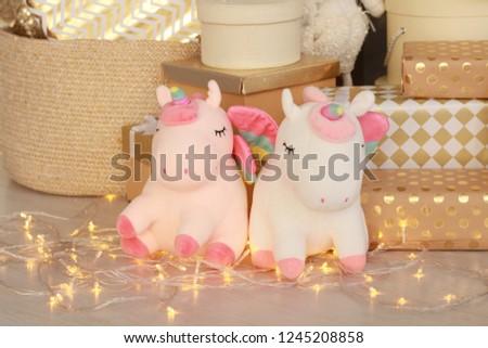Soft, gentle toy unicorn for children #1245208858