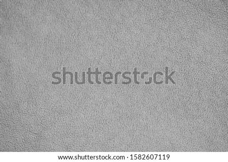 Soft gray hair texture, gray fleece. Warmth and comfort background Foto stock ©