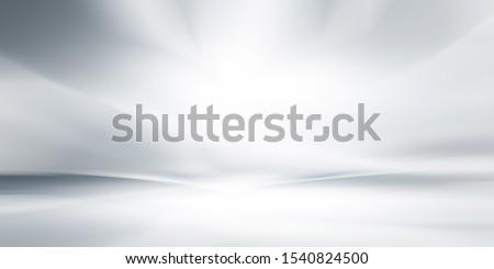 soft gray studio room background, grey floor backdrop with spotlight. Сток-фото ©