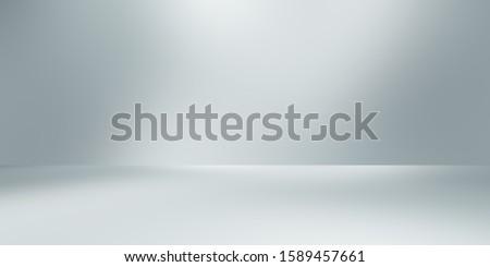soft gray studio room background, grey floor backdrop with spotlight  Сток-фото ©