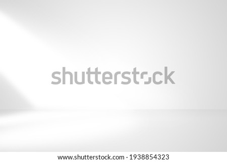 Soft gray studio room background with window with light from window, without any textures used for background and display your product. Imagine de stoc ©