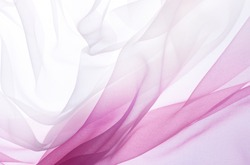 soft pink chiffon with curve and wave