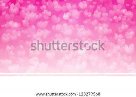 Soft Pink Heart  Background For Valentine's Day - stock photo