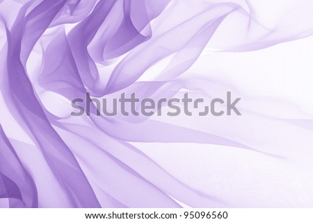 soft purple chiffon with curve and wave - Shutterstock ID 95096560