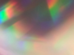 Soft rainbow light flares background or overlay