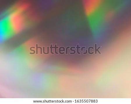 Soft rainbow light flares background or overlay