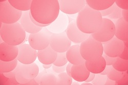 Soft red balloons background