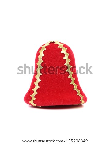 Soft red Jingle Bell. Isolated on a white background.