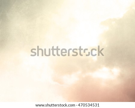Soft retro sunrise background - abstract watercolor sky at morning light
