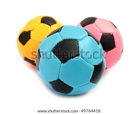 Soft soccer balls for playing indoor