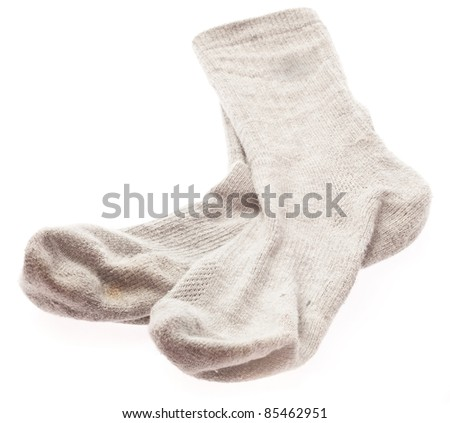 soft sock isolated on a white background